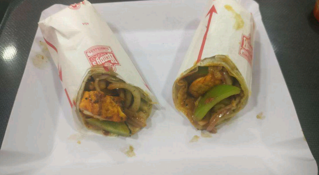 Paneer Schezwan Roll at Chills and Grills