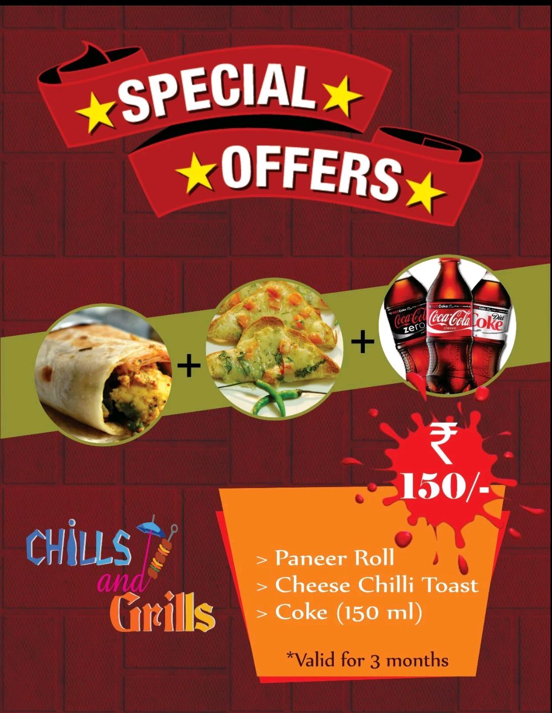 Combo Offers at Chills and Grills