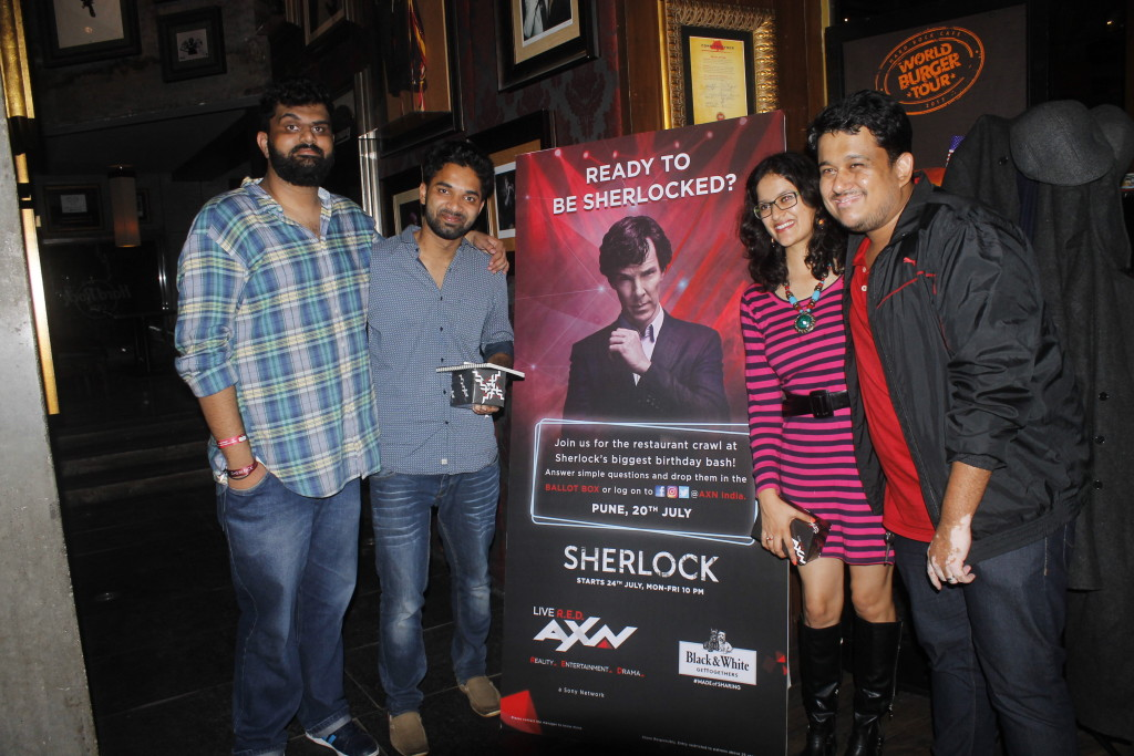 Winners of AXN's BeSherlocked Restauarant Crawl